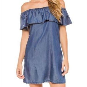 NWOT Tommy Bahama Chambray Off the Shoulder Dress